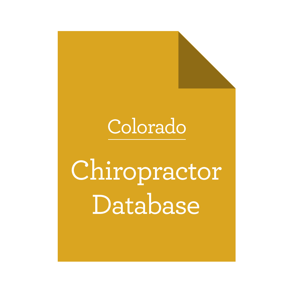 Database of Colorado Chiropractors