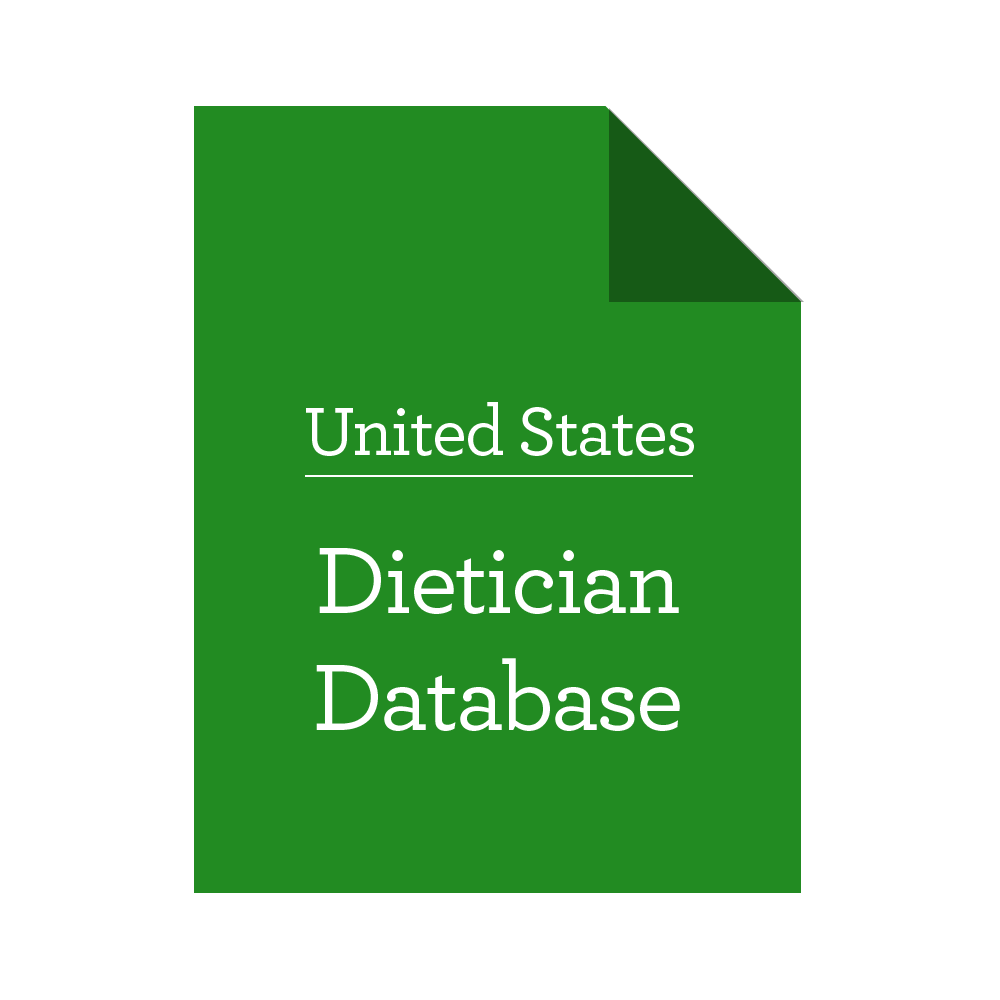 United States Dietician Database